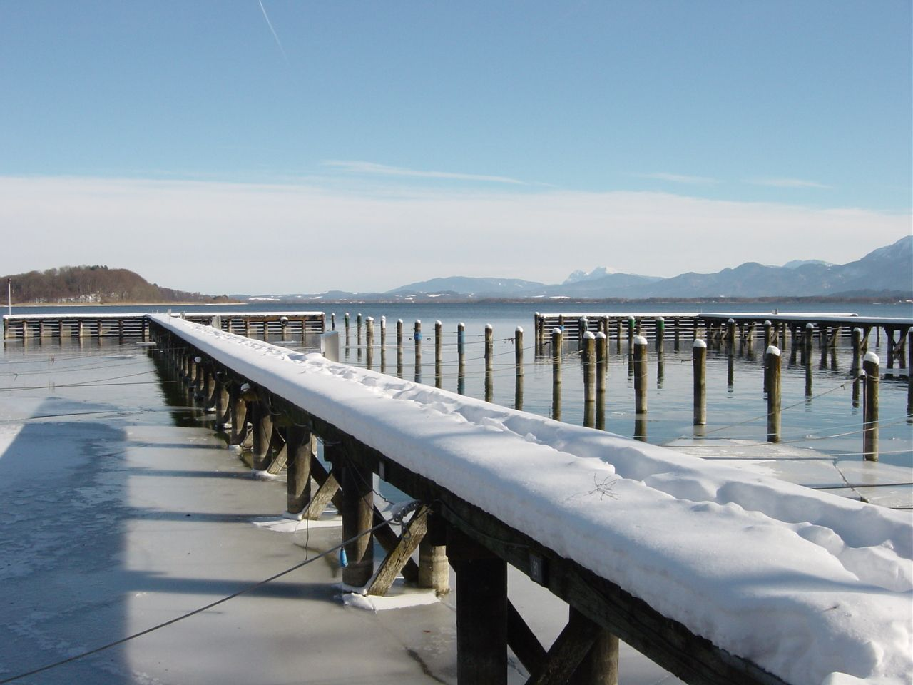 Winterlandschaft Chiemsee