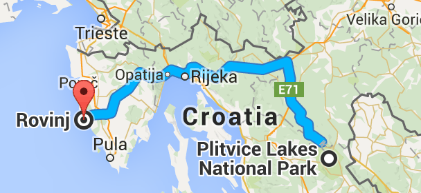 How Far Is Rovinj From Plitvice Plitvice Lakes National Park Plitvice Lakes Rovinj