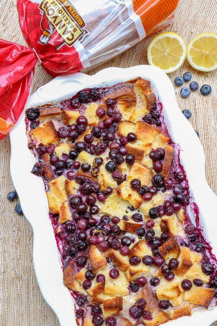 Photo of gluten free overnight lemon blueberry french toast add cream cheese