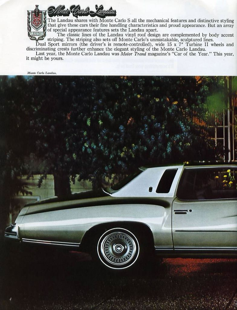 1974 Monte Carlo Specs Colors Facts History And Performance