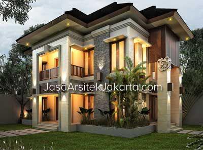 berikut desain rumah 2 lantai luas bangunan 240 m2 milik
