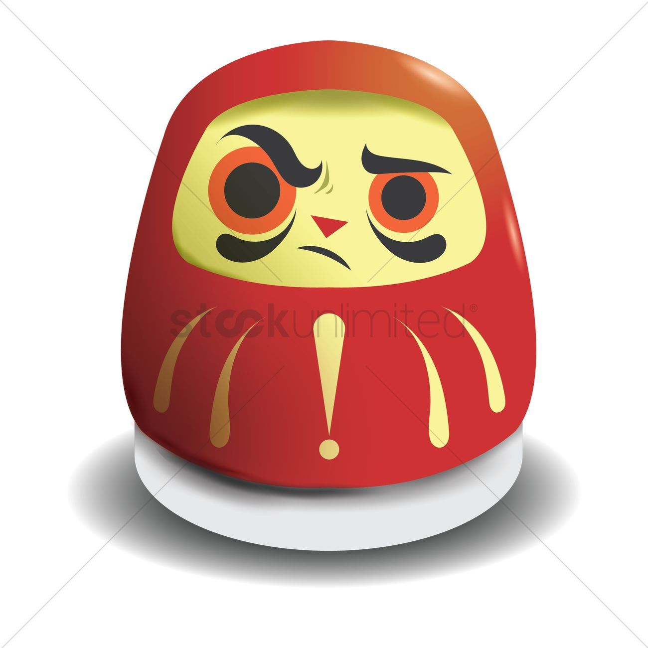 Attitude daruma doll vectors stock clipart