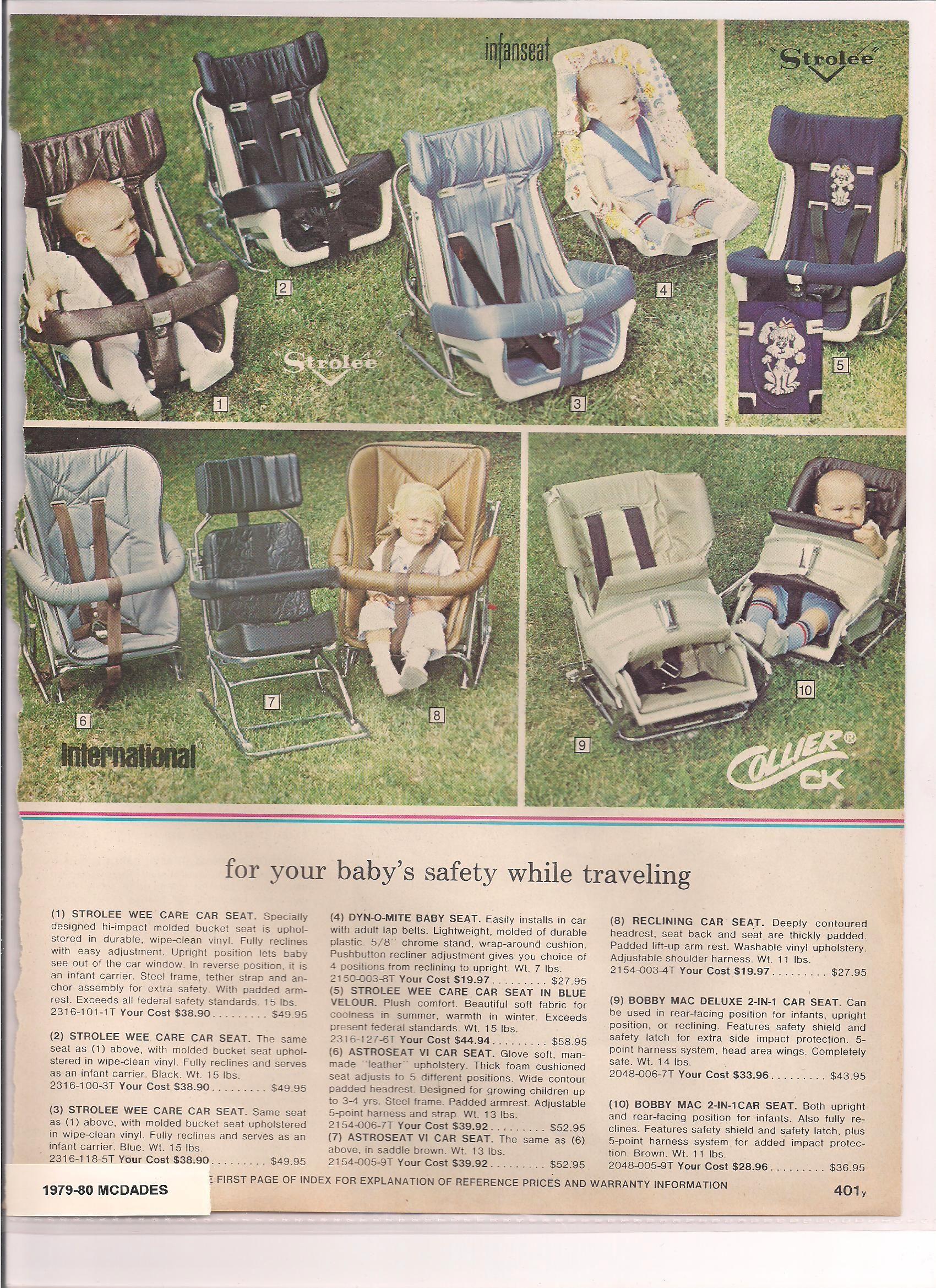 Mcdades 1979 80 Vintage Baby Nursery Vintage Baby Gear Baby Car Seats