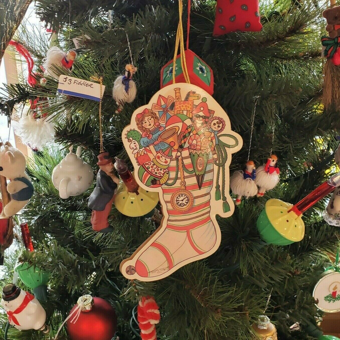 Taiwan Christmas 2020 Details about Stephanie Siegel Ornament Christmas Stocking of Toys