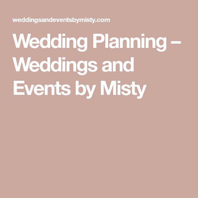 planning weddings events misty beach