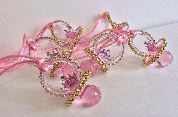 Little Princess Pacifiers Baby Shower Favors By Marshmallowfavors, $25.00