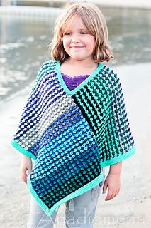 Ice Queen Poncho pattern by Elena Nodel | Knitting | Poncho