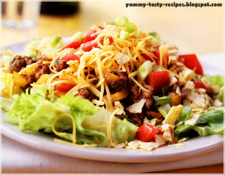 Today We Gonna Do A Mexican Salad with taco chips And Some mozzarella cheese Its Healthy Yummy Tasty Salad Just Try It (^__^)