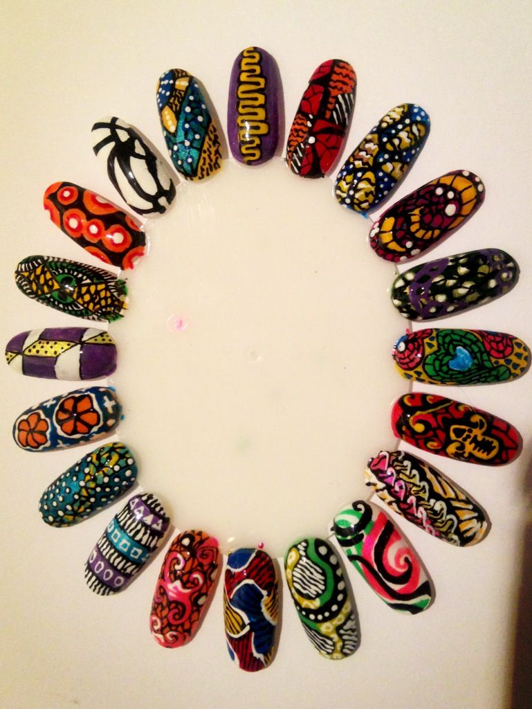West African Print Nail Wheel...