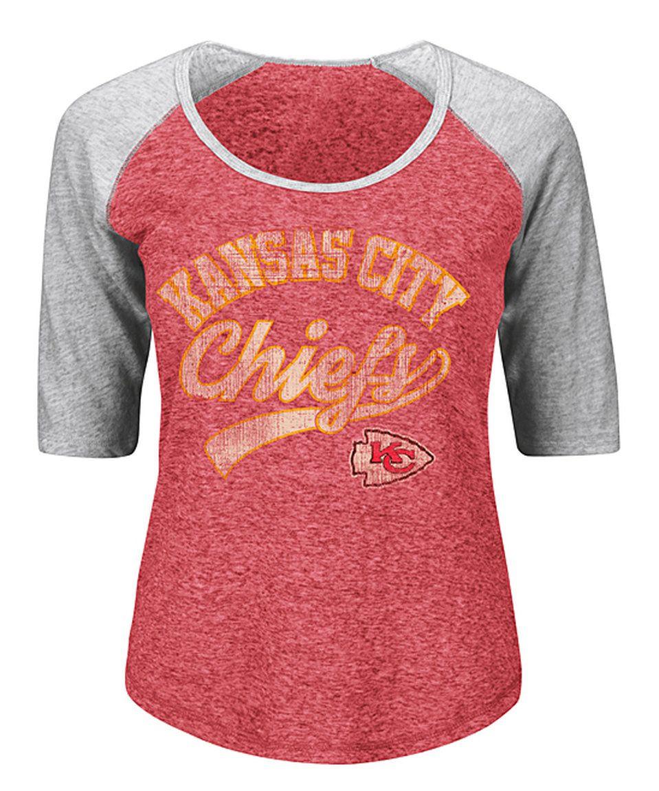 Take a look at this Kansas City Chiefs Raglan Tee - Women's Plus today!