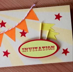 "DIY Scrapbooking ""Carte invitation pop' up"""