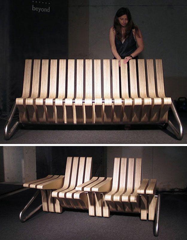 Wooden Flip Chairs Design