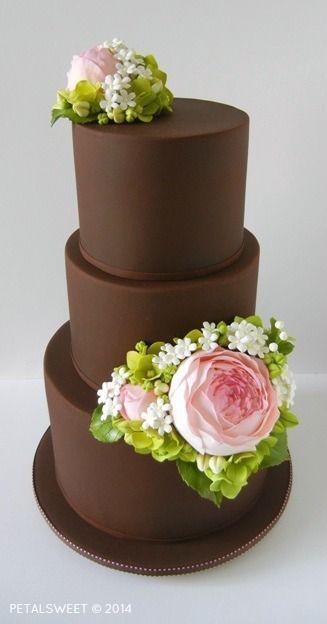 Moderne Hochzeitstorte Mit Zuckerblumen Ofenkieker