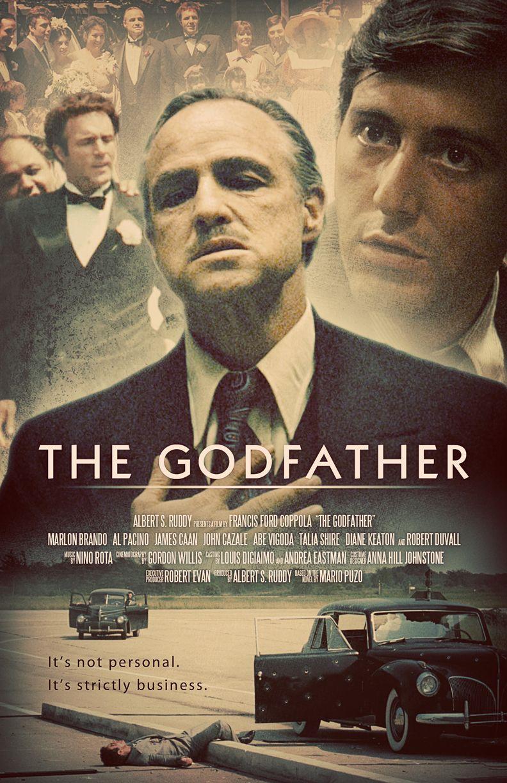 PRINT IMAGE PHOTO PW9 THE GODFATHER MOVIE POSTER Al Pacino Marlon Brando 1218