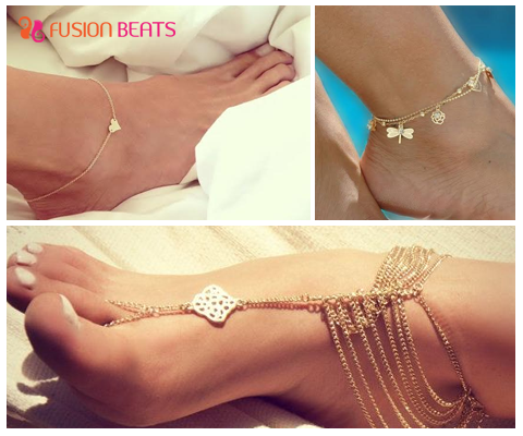 Anklets are cute and charming. These instantly add beautiful touch to your look!