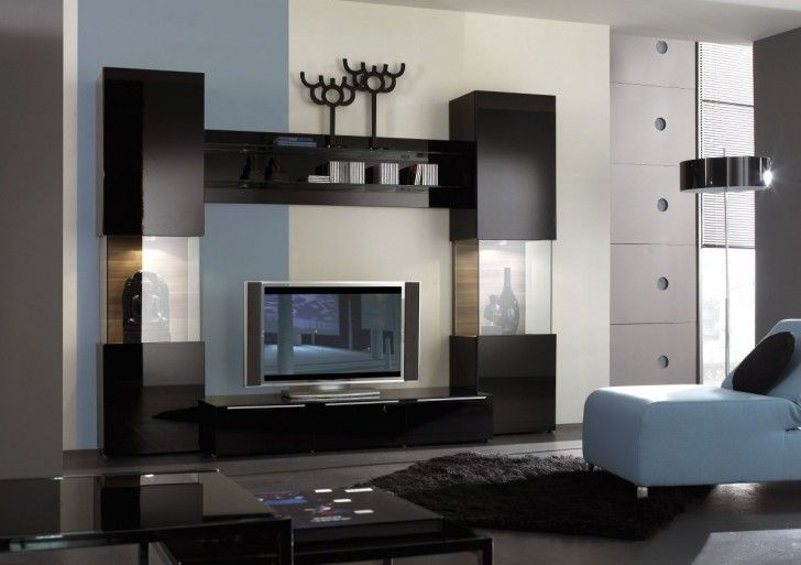 Pleasant Interior Remarkable Black And Glass Wall Unit For Living Room Entertainment Furniture Design Exclusive Modern Ideas Mode