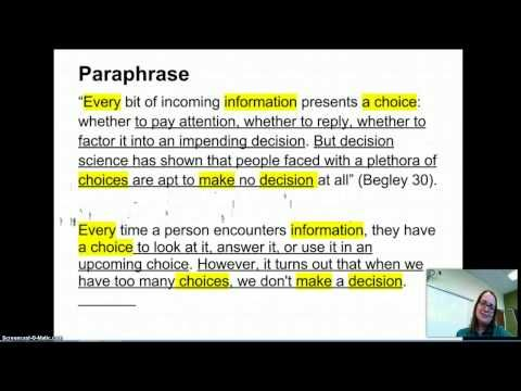 Quote Paraphrase Summary Marketing Stock Market Quotes Example Of Paraphrasing Plagiarism