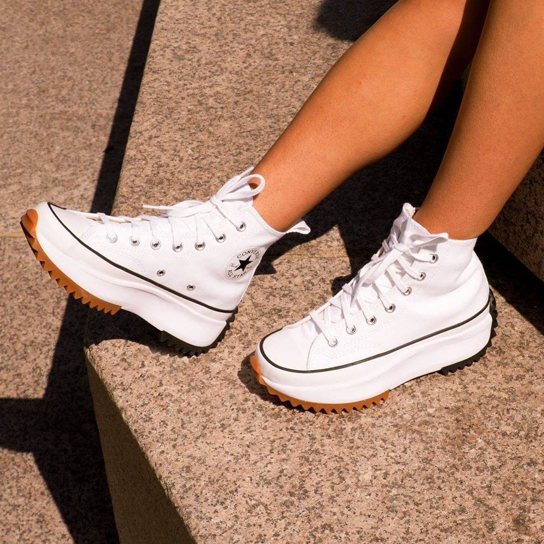 run star hike converse blanc