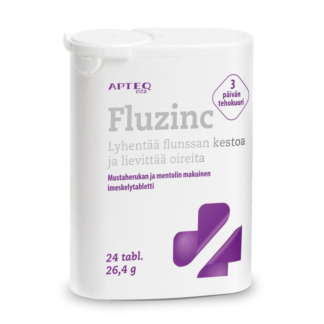 *APTEQ VITA FLUZINC lyhentää flunssan kestoa 24 tablettia
