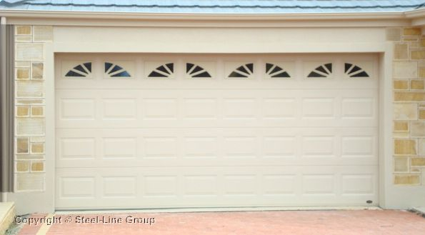 Heritage Sectional Garage Door With Sherwood 4 X 2 Windows