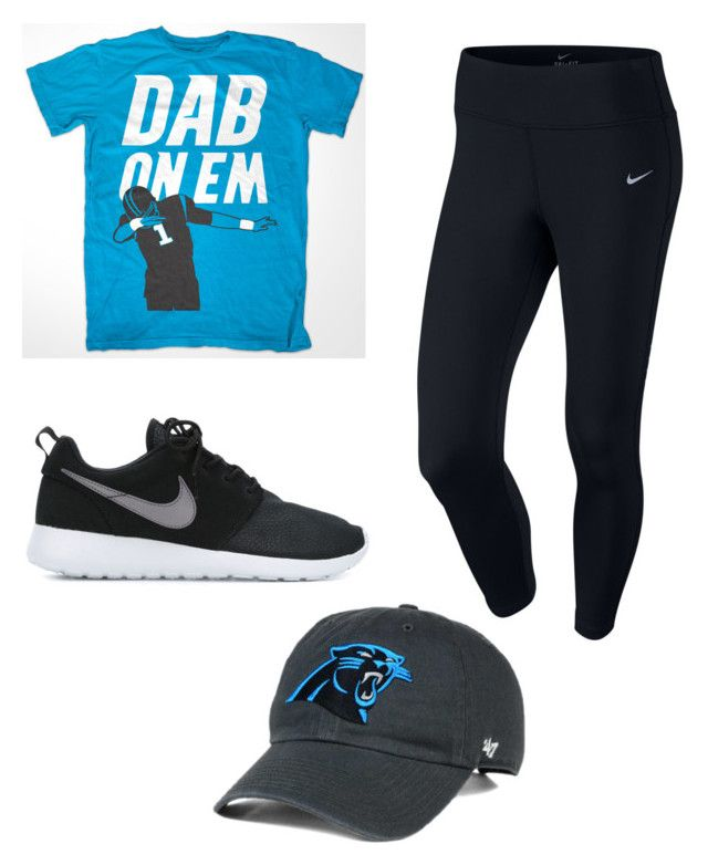 """Keep Pounding"" by pandasandpiglets on Polyvore featuring NIKE, women's clothing, women, female, woman, misses, juniors, carolinapanthers and keeppounding"