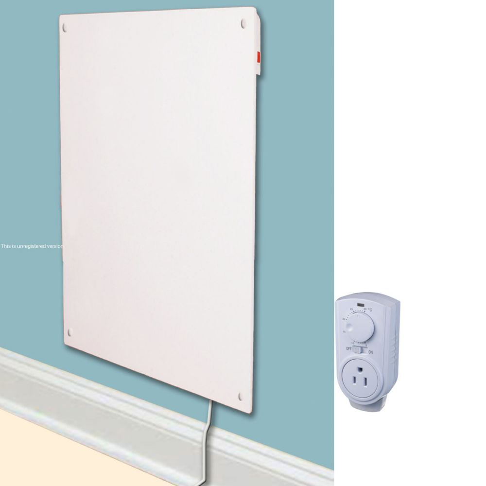 600w with Plug-in Thermostat Electric Panel Room Heater ...