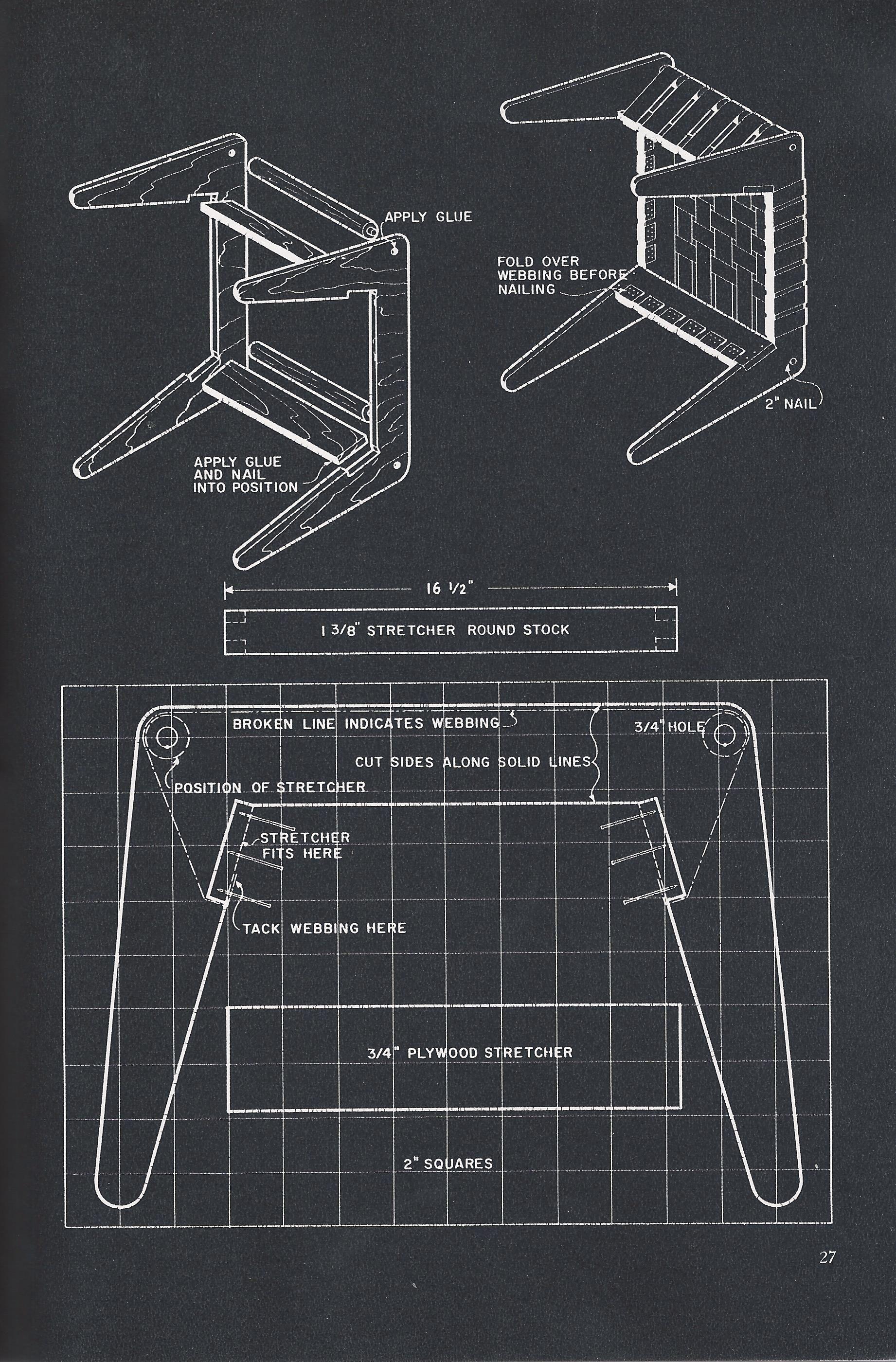 Jens Risom Knoll Webbed Stool Diy Instructions Diy Stool