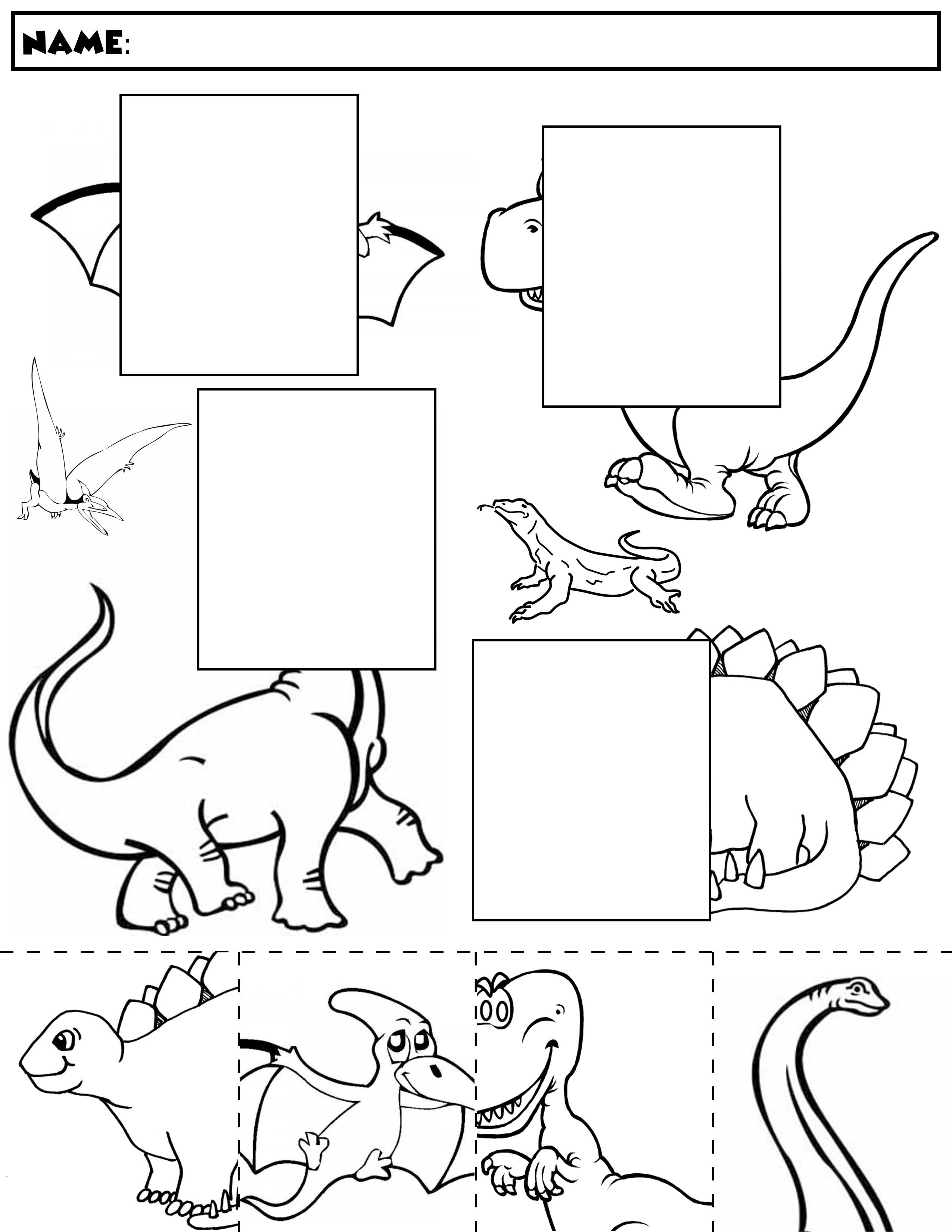 4 Worksheets Dinosaur Connect The Dots Dinosaur Color And