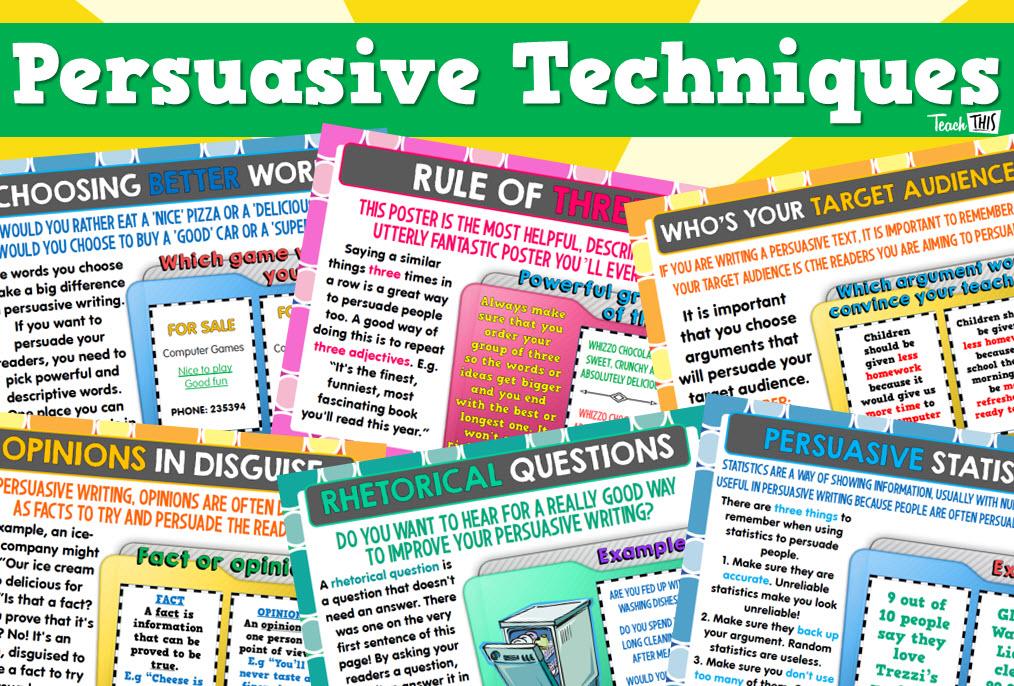 Persuasive Techniques Posters | School | Pinterest