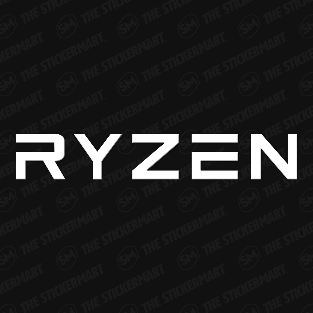 Ryzen Logo Vinyl Decal Logos Vinyl Decals Vinyl