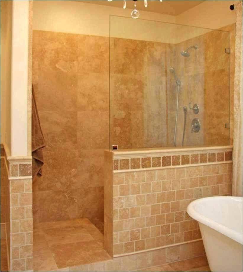 Fancy Walk In Showers No Doors Shower Stalls Without Doors Photo Walk In Tile Shower No Door N Bathroom Shower Design Tile Walk In Shower Showers Without Doors