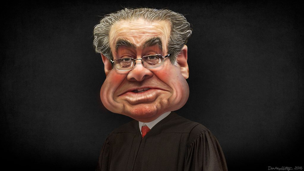 Antonin Scalia Caricature Caricature License Photo Creative Commons