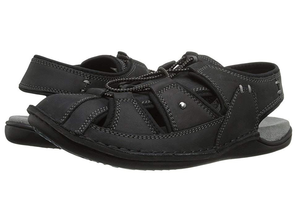 15c95db97fea Hush Puppies Bergen Grady (Black Waxy Leather) Men s Sandals. Brace  yourself for the perfect sandal for everything from camping to backyard  lounging!