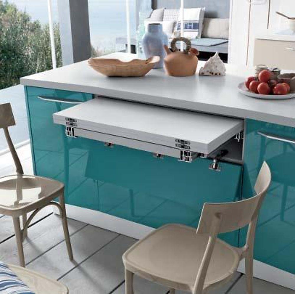Mesa extraible brunch cocina kitchen cuisine k che - Herrajes para mesas plegables ...