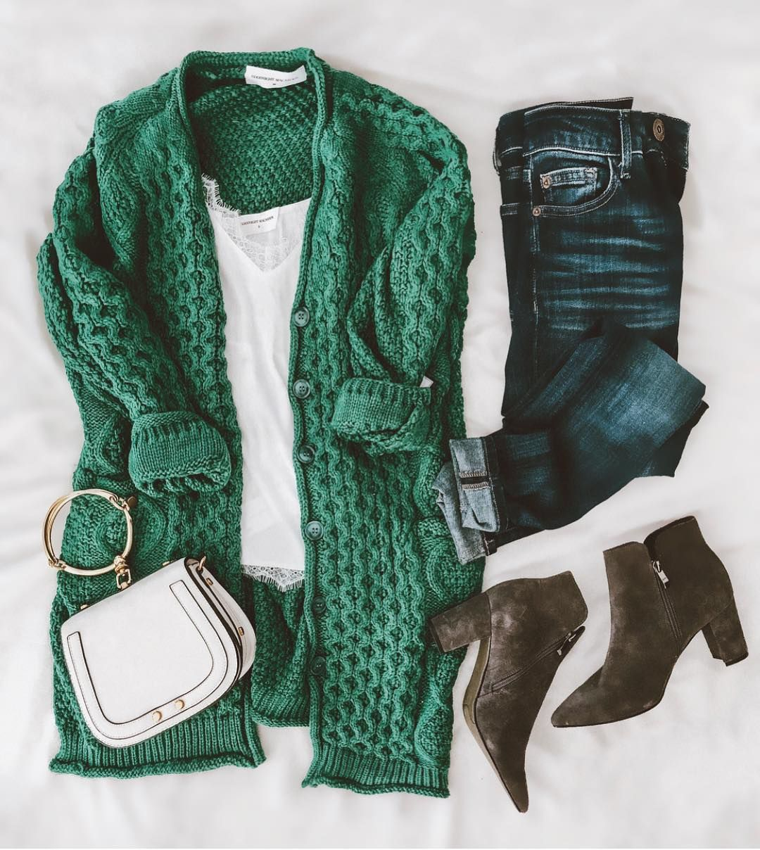 """Goodnight Macaroon Boutique on Instagram: """"One of our best-selling cardigans 'Bess' is now back in stock! Available in 5 colors! We especially love this emerald green one for #fall…"""""""