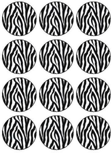 12 Custom Personalised Zebra Print Design Edible Icing Cupcake Topper  Images | eBay