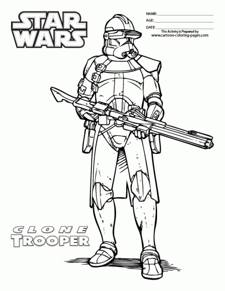 Star Wars Clone Trooper Coloring Pages with Clone Trooper Coloring ...