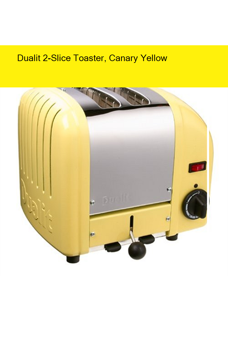 Dualit 2Slice Toaster, Canary Yellow Toaster, Dualit