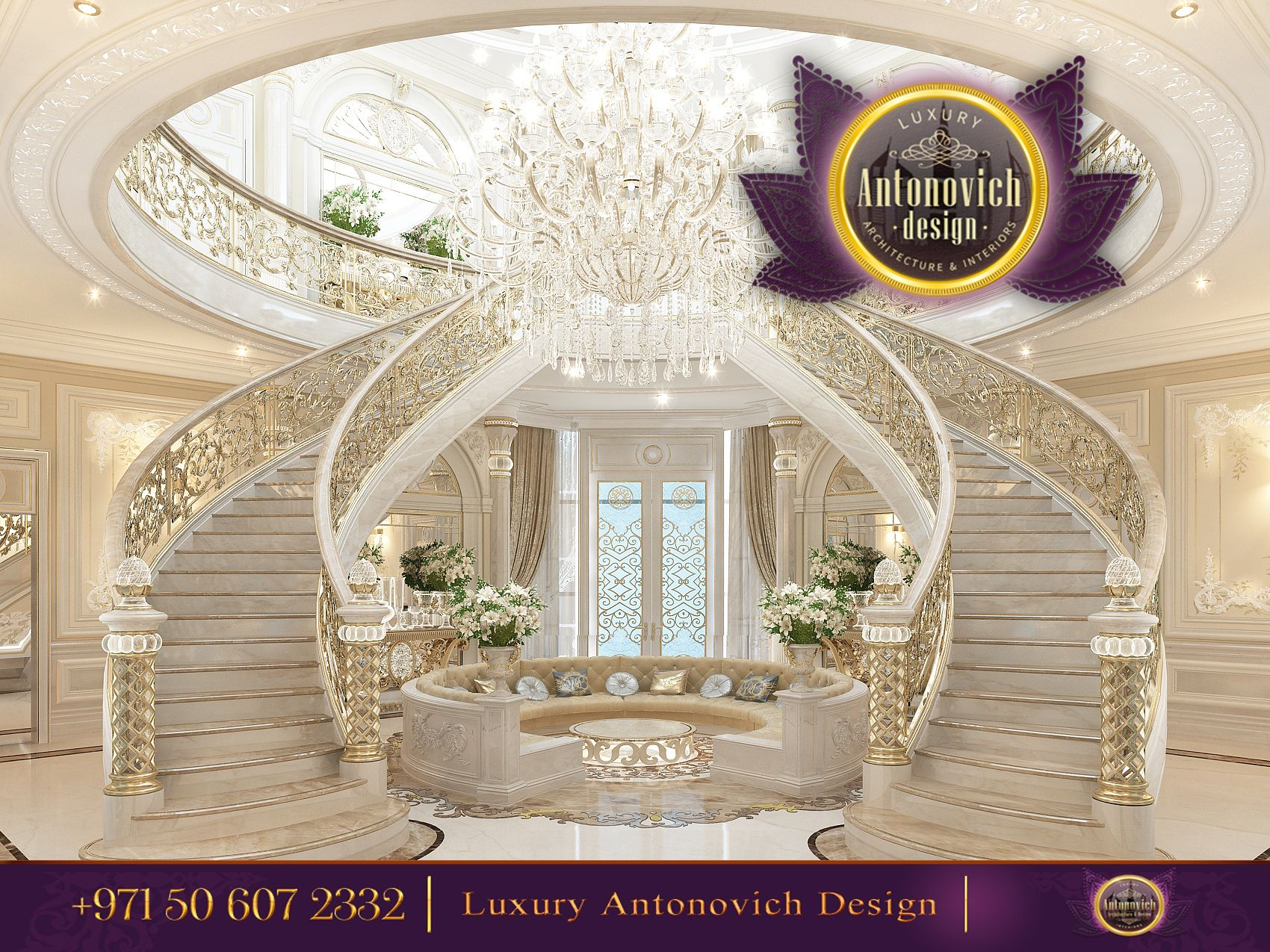 Beautiful dressing room design in dubai by luxury antonovich design - A Perfect Staircase Teases And Pleases The Eye Find This Pin And More On Halls From Antonovich Design