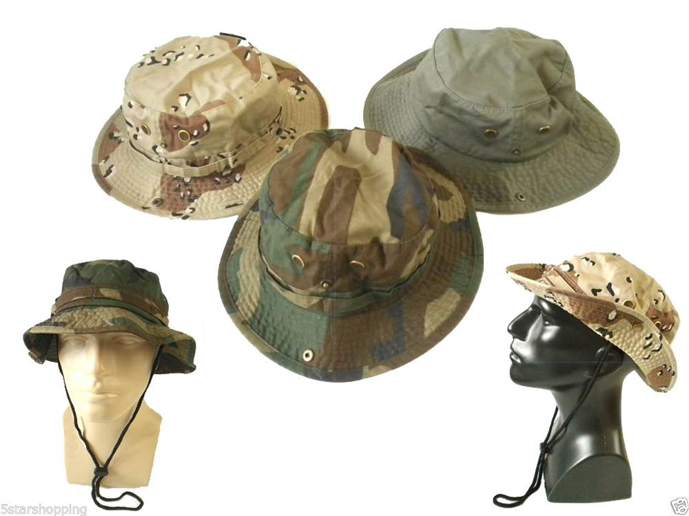 9d9001c4daf Bucket Hat 100% Cotton Safari Fishing Hiking Golf Military Outback Choice  Colors  Newhattan  Bucket