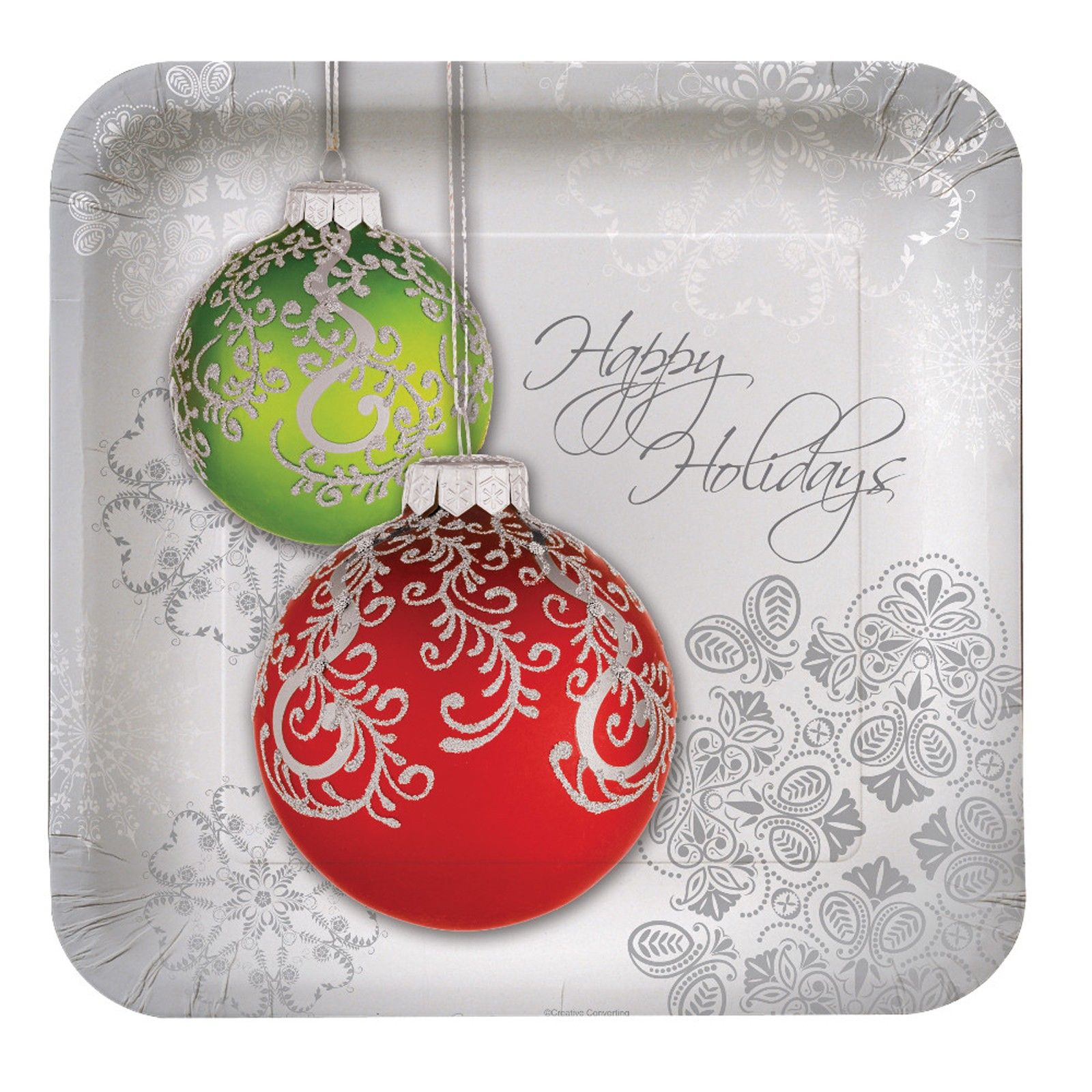 Jingle Bells Square Dinner Plates | 89976 | 2013  8 Plates $4.00