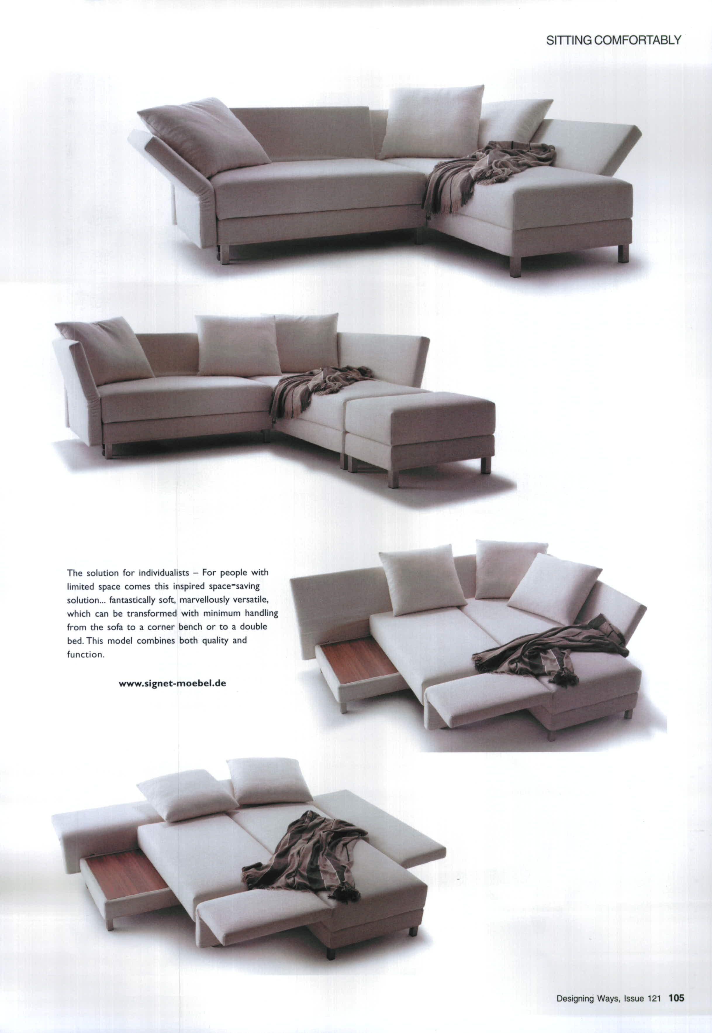 sleeper couch canape litpetit espace de vieespaces