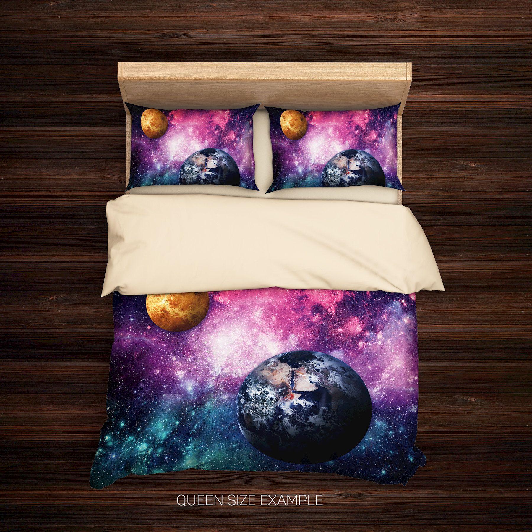 Galaxy Bedding Set Nebula Galaxy Bedding Galaxy Duvet Cover