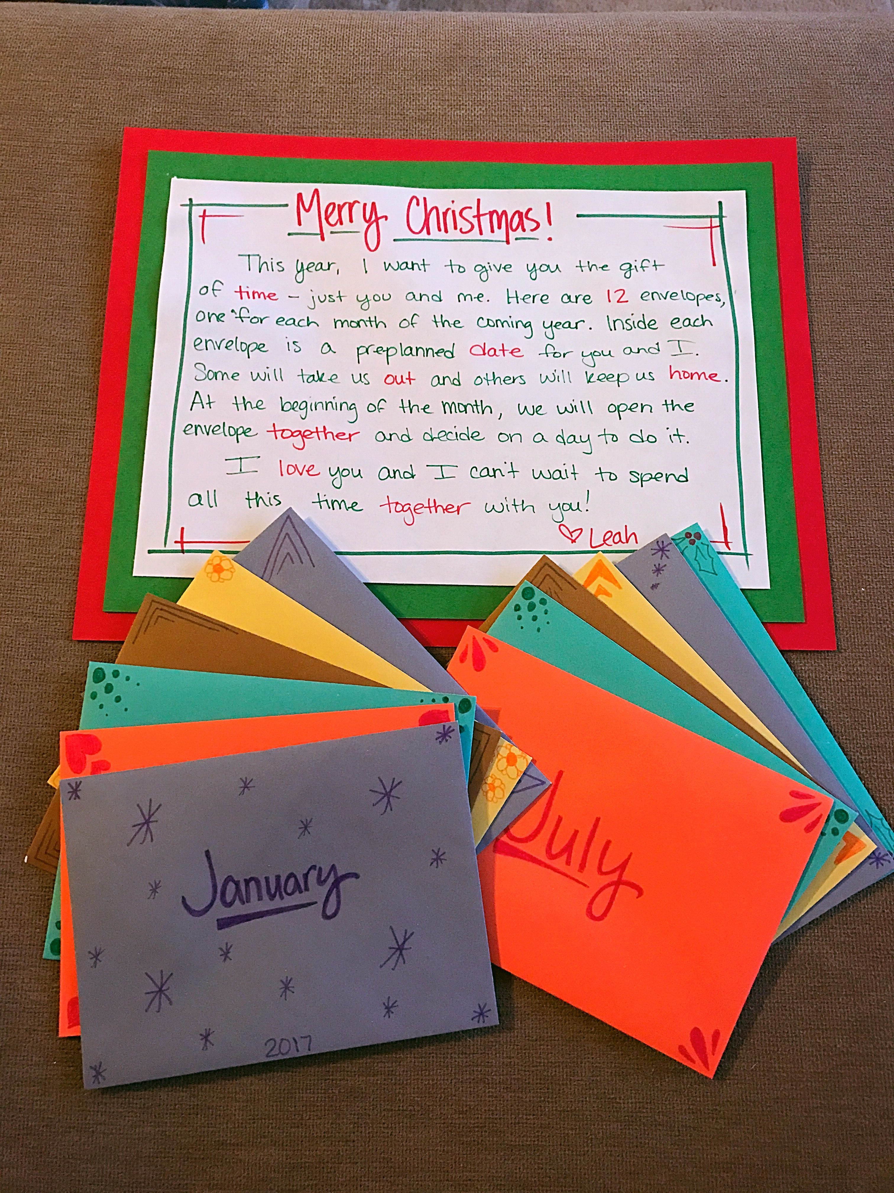 DIY gift for husband; diy monthly pre-planned dates; diy ...