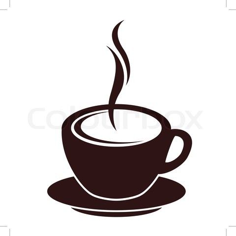 Cartoon Images Of Coffee Cup Stock Vector Of Silhouette Of Coffee Cup With Steam On White Coffee Cup Drawing Coffee Cup Tattoo Tea Cup Drawing