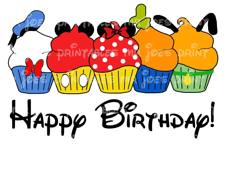 Happy Birthday Minnie Cupcake Printable Fabulous Five DIY Disney ...
