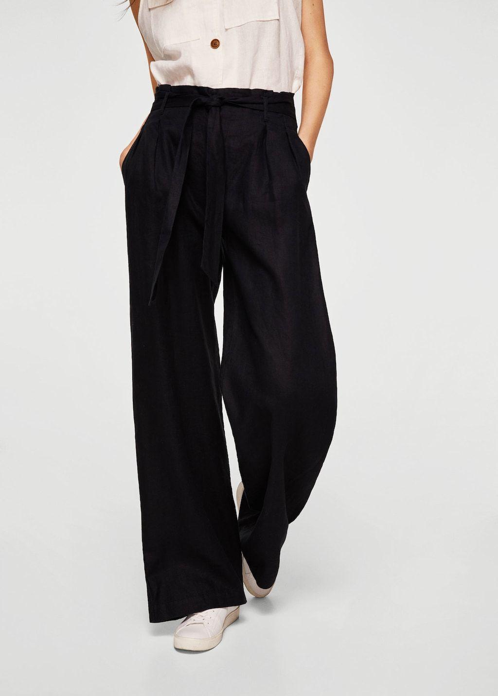 Pantalon Lin Femme Taille Haute