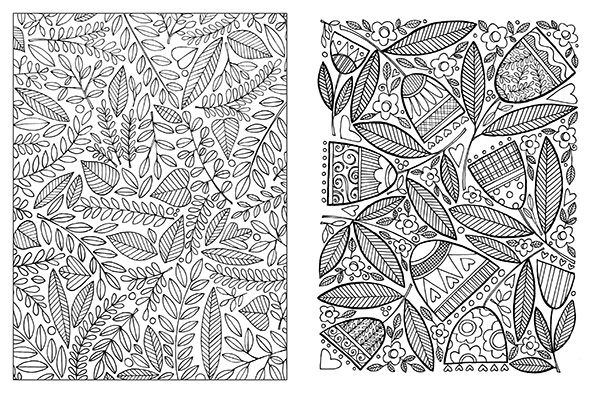 It's just a picture of Playful Posh Coloring Book Soothing Designs