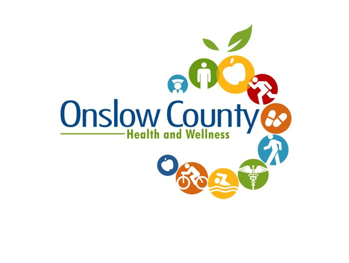 Onslow County Medical Logo With Ten Different Symbols Of Health