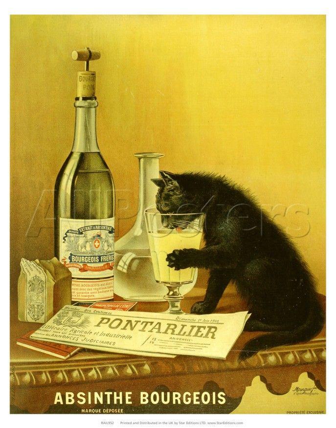 France Belle Epoque Art Nouveau Poster 1891 ABSINTHE BARTH /& Cie